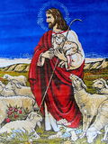 Tapestries with Jesus Stock Photography