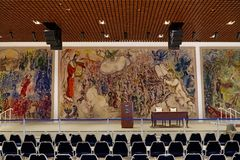 Tapestries by Marc Chagall Royalty Free Stock Photo