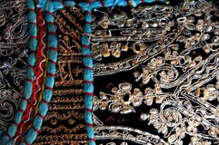 Tapestry. Small detail of richly embroidered Indian tapestry Royalty Free Stock Images