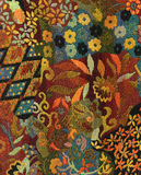 Tapestry. Fragment of a tapestry with floral patterns Stock Image