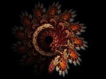 Tapestry. Abstract fractal background created with apophysis, this is a large file showing many details when viewed at full size Royalty Free Stock Photos