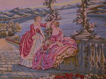 Ladies dancing tapestry Royalty Free Stock Photography