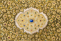 Tapestry embroidered with gold thread Stock Image