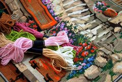 Tapestry and embroidery thread Stock Photo