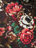 Tapestry with painted roses Royalty Free Stock Photo