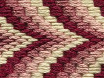 Tapestry pattern. Woollen Tapestry pattern in shades of pink Stock Images