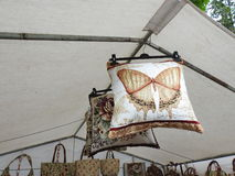 Tapestry pillow for sale Stock Photography