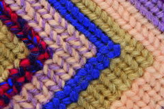 Tapestry stitches. A closeup of a detail of  woolen tapestry  stitches Royalty Free Stock Images
