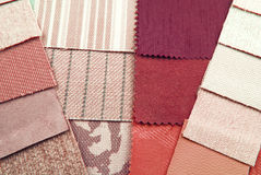 Tapestry and upholstery selection Royalty Free Stock Images