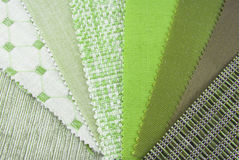 Tapestry and upholstery selection Royalty Free Stock Image