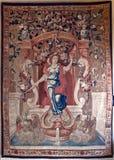 Tapestry woman swane, Ca doro, Venice, Italy Stock Image