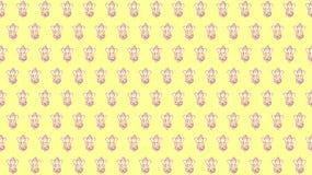 Tapet av ganeshaen med gul bakgrund royaltyfri illustrationer