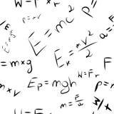 Tapet D för baner för sömlös textur för bakgrund E = mc2 härlig vektor illustrationer