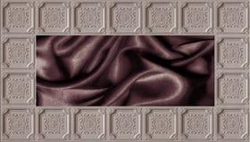 tapet 3d, taktegelplatta och mörkt silke, dekorativ taktapetbakgrund stock illustrationer