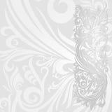 Tapet- eller för inbjudankortsilver abstrakt begrepp Royaltyfri Foto