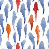 Tapet för bakgrund för fiskvattenfärgmodell Arkivfoton