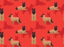 Tapet för bakgrund för hundTervuren tecknad film sömlös Royaltyfri Foto