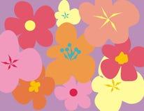 tapet för blommamodell stock illustrationer