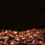 Tapet för espresso för kaffebönor koffein grillad brun med blac arkivfoton