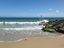 Tapet för sandig strand Royaltyfri Bild