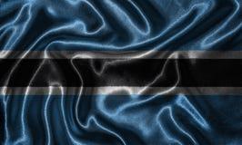 Tapeta Botswana flaga i falowanie zaznaczamy tkaniną fotografia royalty free