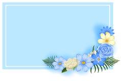 Tapeta Dekoruje z kwiatem ilustracja wektor