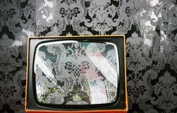 tapeta tv Fotografia Stock