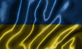 Tapeta Ukraina flaga i falowanie zaznaczamy tkaniną ilustracja wektor