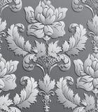Tapeta w stylu baroku Wektoru adamaszkowy bezszwowy kwiecisty wzór zmiany koloru łatwy w pełni ilustracyjny ornamentu róży wektor royalty ilustracja