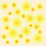 Tapeta z żółtymi okręgami Fotografia Royalty Free
