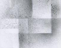 Tapeta z airbrush skutkiem Czarna akrylowej farby uderzenia tekstura na białym papierze Rozrzucona borowinowa sztuka Nowy uwolnie Zdjęcie Royalty Free