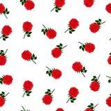 Tapeta z czerwonymi różami Obraz Stock