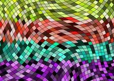 Tapeta z geometrycznym elementu projektem z kolorami i przypadkowym układem Obraz Royalty Free