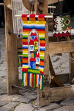 Tapete búlgaro tradicional com listras e cores brilhantes Imagens de Stock Royalty Free