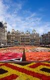 Tapete da flor em Bruxelas imagens de stock