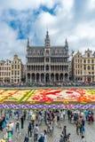 Tapete 2016 da flor em Bruxelas Imagem de Stock Royalty Free