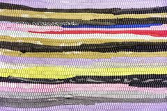 Tapete das partes de pano Textura e fundo do tapete dos retalhos imagem de stock
