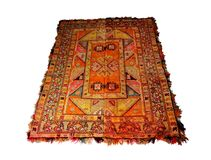 tapete de lã Mão-tecido com muitos decoração fotografia de stock