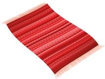 Tapete de pano do voo do tapete vermelho Fotos de Stock