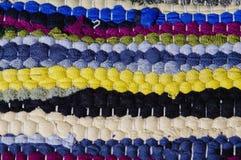 Tapete de panos coloridos Imagens de Stock Royalty Free
