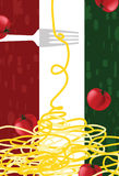 Tapete der italienischen Gaststätte vektor abbildung