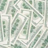 Tapete desarrumado da moeda de 100's E.U. Fotos de Stock Royalty Free