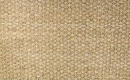 Tapete do cânhamo de Brown, fundo da textura do tapete, pronto para a exposição do produto Imagens de Stock Royalty Free