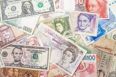 Tapete do dinheiro do mundo Imagens de Stock
