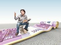 Tapete e homem do dinheiro Fotos de Stock Royalty Free