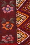Tapete feito à mão Tapete feito à mão de lã tradicional Fotografia de Stock Royalty Free