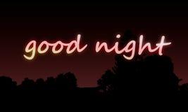 Tapete gute Nacht Lizenzfreies Stockbild