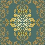 Tapete im Stil des Barocks Ein nahtloser Vektorhintergrund Stockfoto