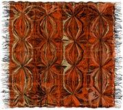 Tapete listrado do grunge colorido do weave com franja ilustração stock