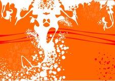 Tapete mit abstrakten Farben Lizenzfreies Stockbild